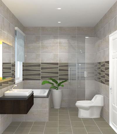 Chọn gạch ốp lát giúp WC sang như khách sạn