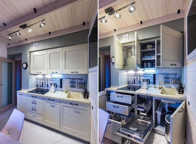 """""""Lột xác"""" nhà bếp nhỏ 9m2 trở nên hiện đại và sang trọng"""